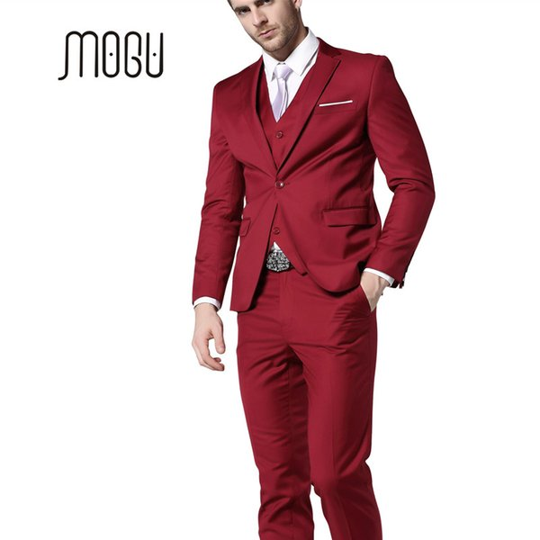 be6e6bb11f MOGU Mens Suits 2017 New Fashion Clothing Latest Coat Pant Designs Three  Piece Suit Men Slim