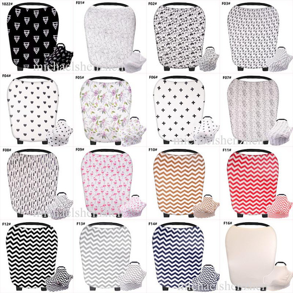 best selling 32 Style INS Stretchy Cotton Baby Nursing Cover breastfeeding Stripe Safety seat car cover Privacy Cover Scarf Blanket Breast Feeding B001