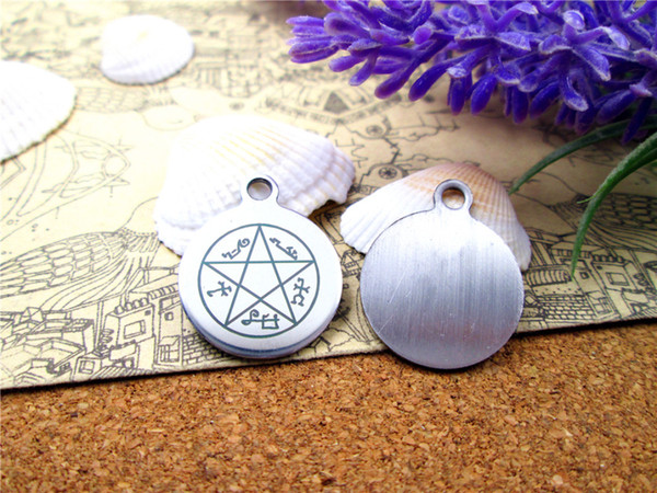 """20pcs--""""Supernatural Dean Pentacle Star Amulet""""stainless steel charms more style for choosing DIY Charms pendants for necklace"""