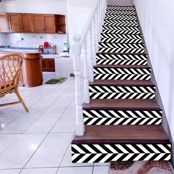 6 Adet Merdiven Merdiven Yükseltici Zemin Sticker DIY Duvar Çıkartması Moda Merdiven Çıkartması Dekor vinilos decorativos para paredes decoracion