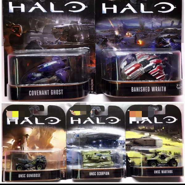 2018 latest batch of small sports car toys, movie hot sale series, alloy vehicle model, Halo War DMC55, 5 models mixed wholesale!
