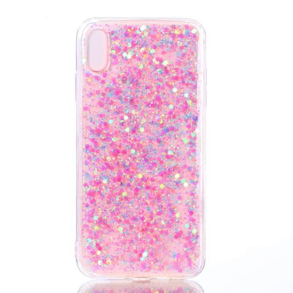 Fashion Flash slice Cover For iPhone XS Max Case Acrylic Soft TPU silicon Mobile Phone Case Coque For iPhone XS Max