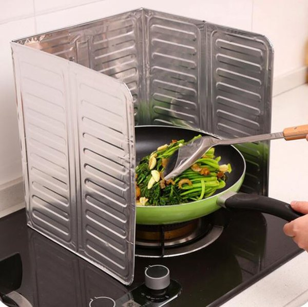 new Kitchen Oil Splash Guard Gas Stove Cooker Oil Removal Scald Proof Board Kitchen Too Every oil baffle aluminum foil plate helper h137
