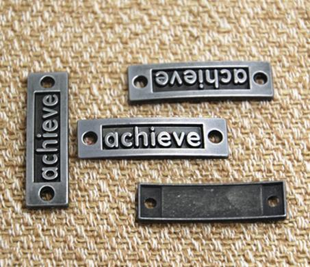 8pcs/lot-achieve Charms, Antique gun black achieve Charm Pendants connector 35x10mm