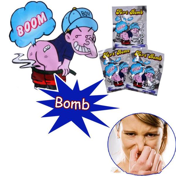 Accesorios para el Día de los Inocentes Bolsas de bombas de pedos Novedad Stink Bomb Bolsas malolientes Burlarse de juguetes Mordazas Bromas prácticas Gadget Broma Novedad divertida