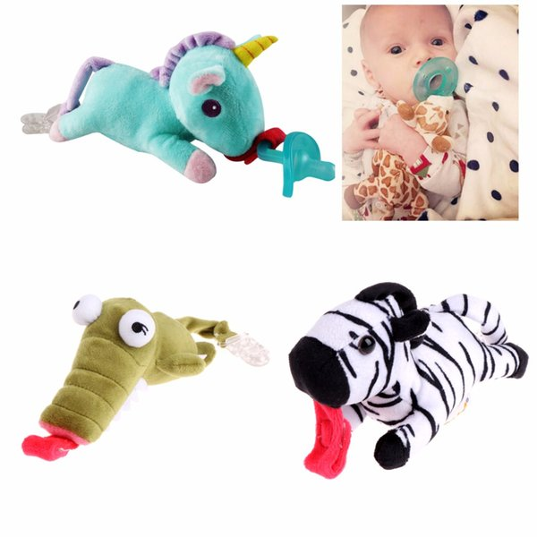 Baby Boy Girl Dummy Pacifier Clip Feeding Plush Animal Toy Infant Child Soother Nipples Holder