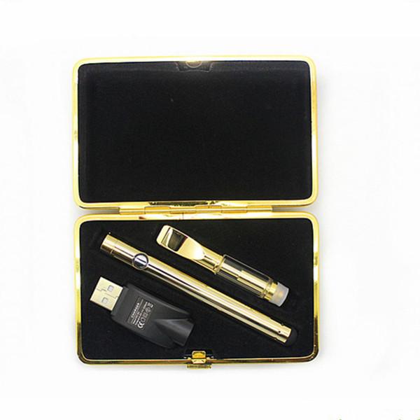 disposable vape pen concentrate oil Vaporizer pen starter kits 280mAh 510 button battery Ceramic Vape Cartridge 92a3 0.5ml 1ml vape kits