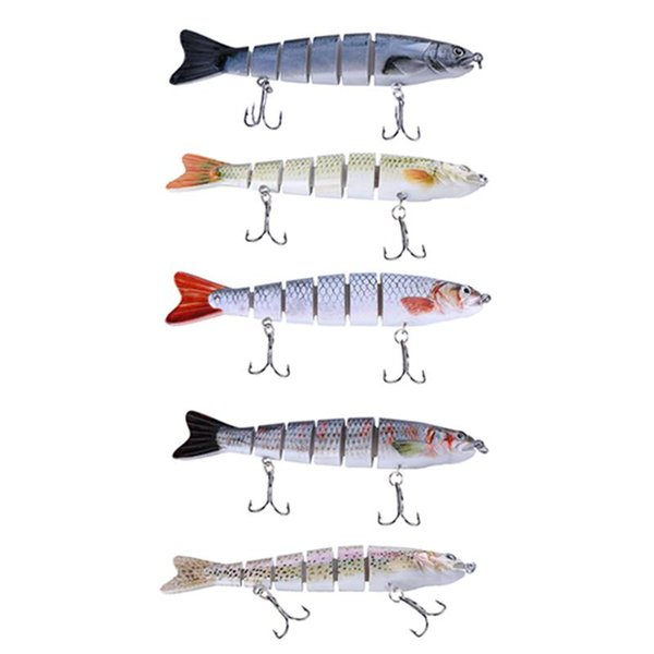 12cm 22g Fishing Wobblers Lifelike Fishing Lure 6 Segment Swimbait Crankbait Artificial Bait Isca Artificial Lure Fishing Tackle