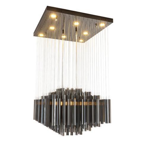 Postmodern crystal chandelier restaurant lights fashion led pendant lighting luxury home rectangular hotel chandelier bedroom pendant lamps