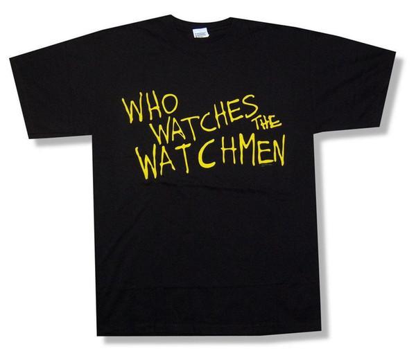 Watchmen Who Watches Text image camiseta negra nueva película oficial de cómic