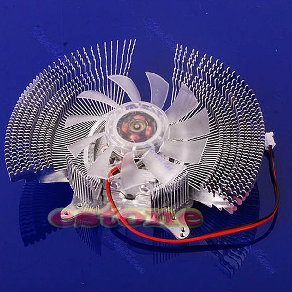 VGA PC Computer Video Card Cooler Cooling Fan Heatsinks 4 VGA Card Installation Holes 2-Pin Cooler for Graphics Cooling