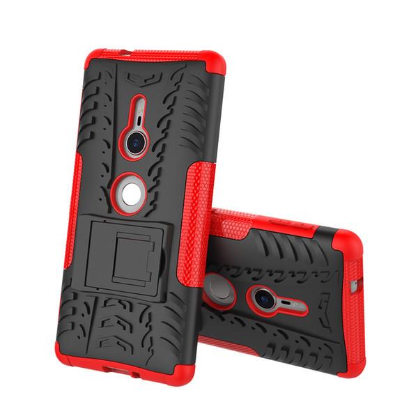 Housse double couche pour Sony Xperia XZ3 XA2 Ultra L2 XZ2 LG Q7 Compact avec fonction de support