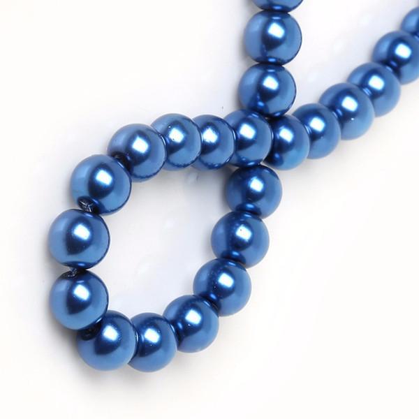 Perle di vetro blu scuro Perle distanziate rotonde MISURA PER BRACCIALETTO COLLANA GIOIELLI CHE FANNO 4mm / 6mm / 8mm / 10mm