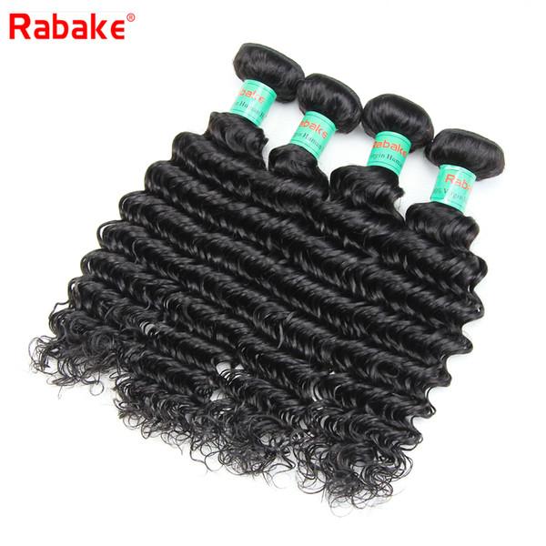 Peruvian Deep Wave Virgin Hair Weave Bundles Deals Rabake 8A Deep Wave Peruvian Unprocessed Human Hair Extensions Cheap Sew in Weave Bundles