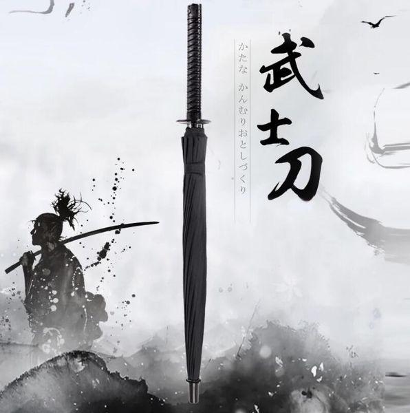 Cool Fashion Japanese Samurai Swords Paraguas Katana Creative Rain Gear LX1817