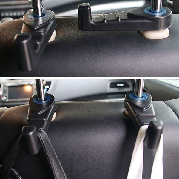 Car-style 2 Pc Universel De Voiture Siège Arrière Tête Hanger Holder Crochets Pour Sac À Main Tissu Épicerie voiture accessoires 712