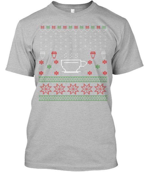 Kahve İçenler Çirkin Noel Tasarım Standart Unisex Tişört