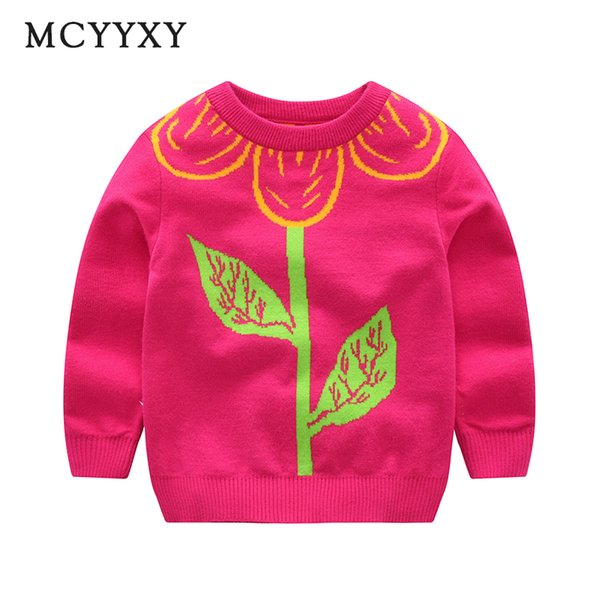 MCYYXY Baby Girls Sweaters Cardigan 2018 Spring Autumn Kids Pullover Cartoon Flower Brand Knit School Little Children