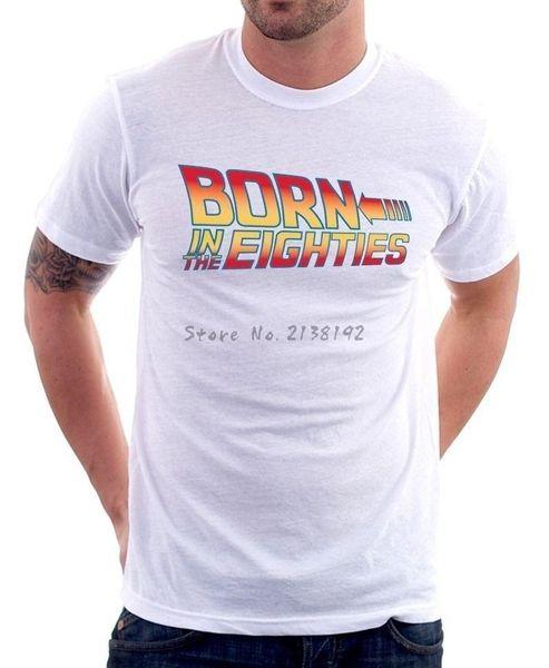 De volta ao futuro II t-shirt do smoking tops dos homens