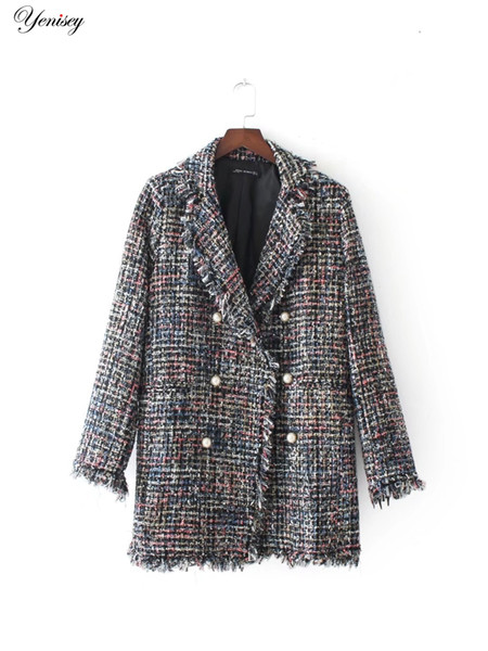 2017 Special Offer Limited Coats European And American Fashion Bb90-7220 Pearls Cloth Coat 0804