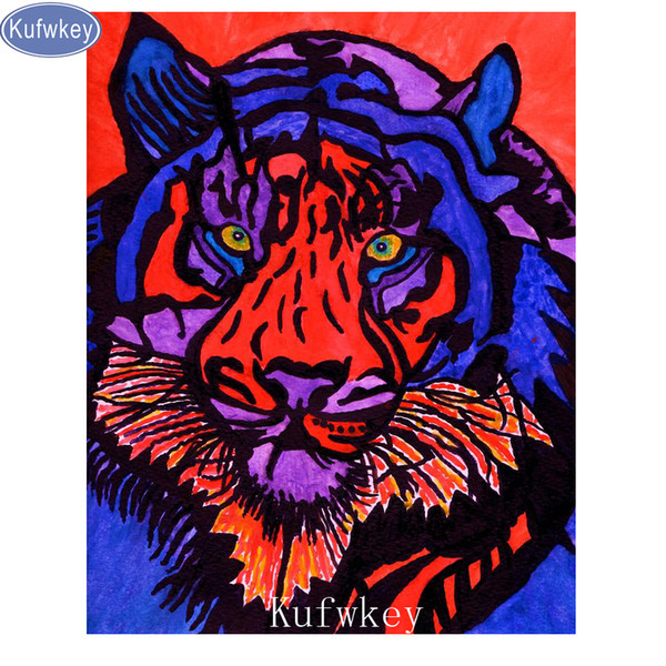"Photo Custom,Diamond Painting Cross Stitch Full resin diamonds with picture Embroidery ""tiger""stickers Diamond Mosaic Home Decor"