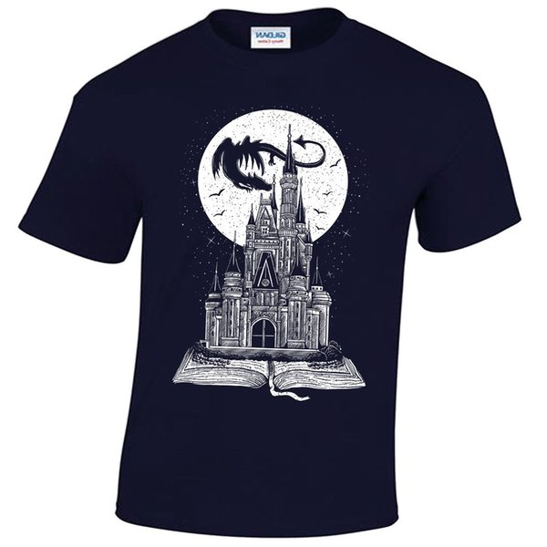 Details zu Fairy Tail Book T-Shirt Mens Story Dragon Castle Fantasy Moon Stars Funny free shipping Unisex Casual gift