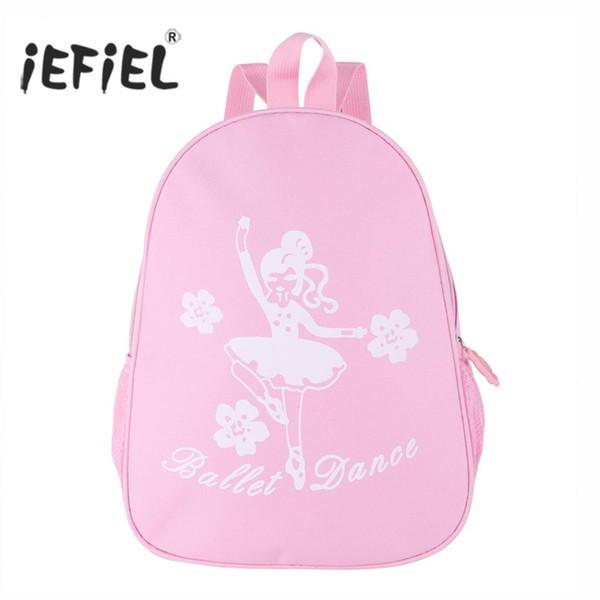 Girls Ballet Bag Lovely Fashion Ballet Dance Bag Students School Backpack Dancing Girl and Flower Print Shoulder for Child