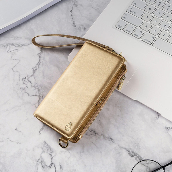 Business Fashion Girls Flip Luxury Zipper Leather Case For Samsung Note 9 8 Holster Cover for Galaxy S8 S9 Plus Wallet Phone Bag