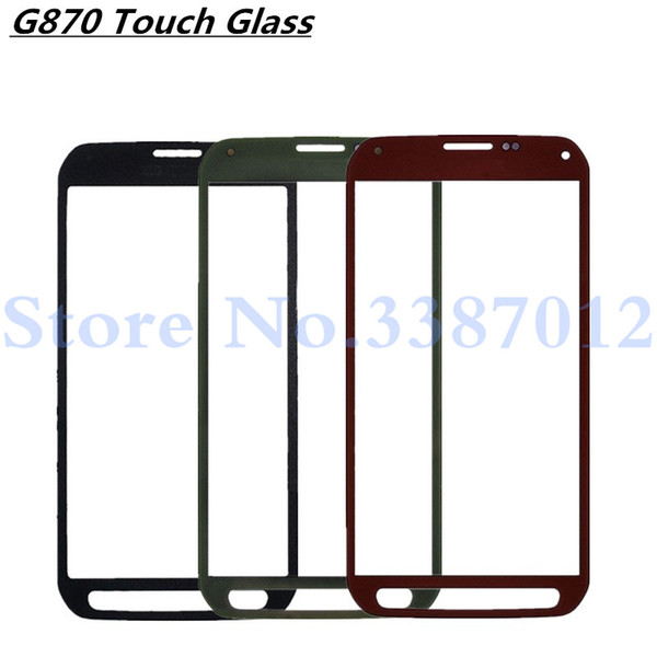 5.1 inches Touch Screen Glass Replacement For Galaxy S5 Active G870A G870 Outer Front Screen Glass Lens Cover