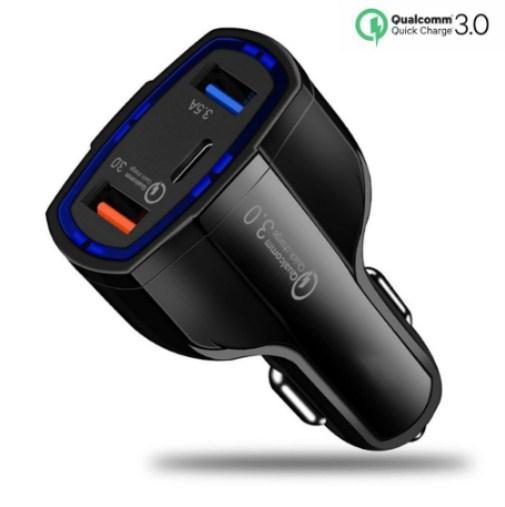 Novo usb-tipo de carregador de carro c poder de entrega dupla usb adaptador de carregamento de telefone de carga rápida 3.0 para iphone x samsung