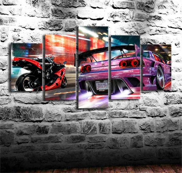 Satın Al Spor Araba 35 Parça Ev Dekor Hd Baskılı Modern Sanat