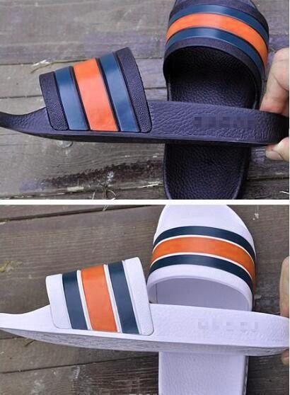 Starke Unterseite rutschfeste bequeme und einfache Mannhausschuhe ein Wort ziehen drei Barmoderne Schuhe Männer Freizeit gestreifte Schuhe 40-45 n80