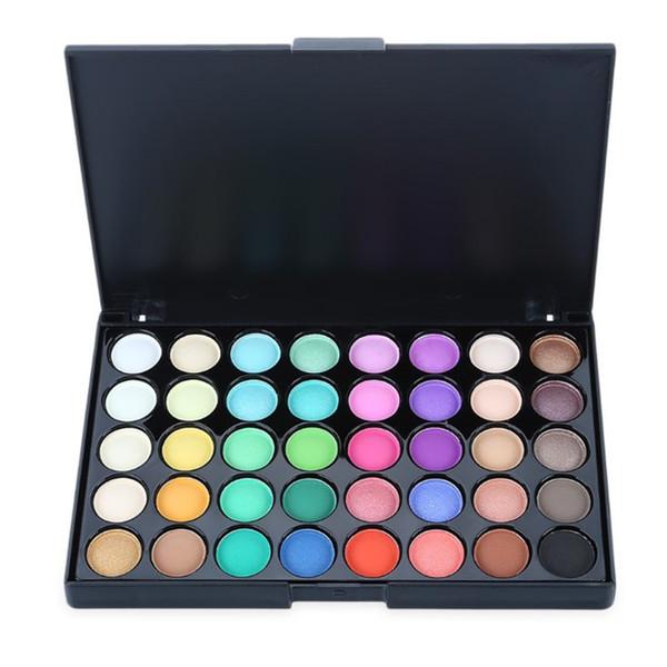 Popfeel Brand 40 Warm Color Eyes Shadow Make Up Profissional Waterproof Shimmer Matte Eyeshadow Palette Makeup comentics