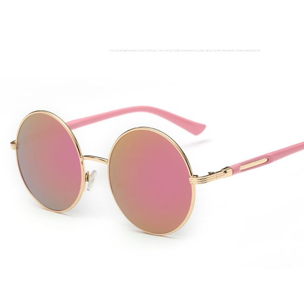 Retro Round Sunglasses Women Brand Designer Vintage Female Hippie Girls Sunglases Eyewear Mirror Rose Gold ladies Sun Glasses