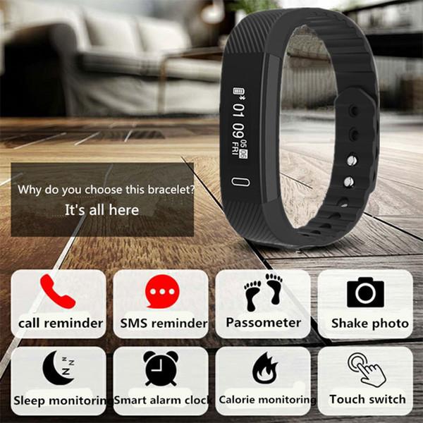 Dustproof Waterproof Fitness Tracker Pedometer Smart Sports Watch With Sleep/Calorie Monitor OLED Big Screen Step Counter Watch