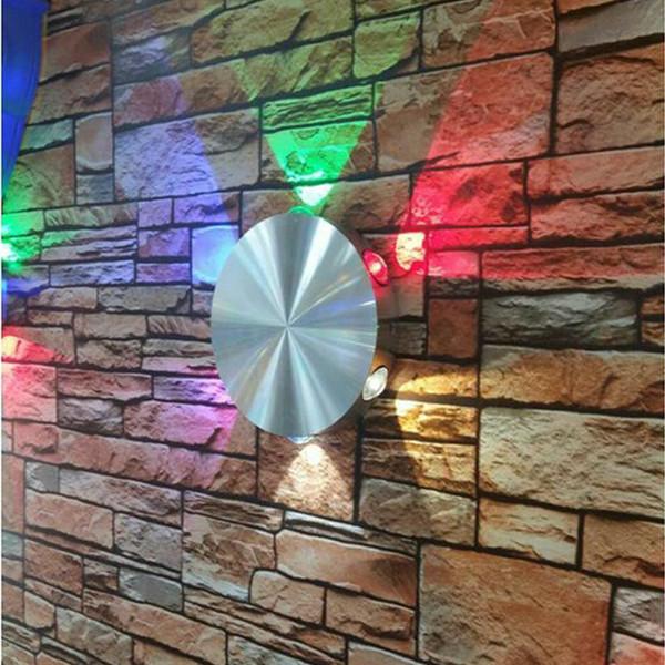Lampada da parete a LED per interni 3W AC90-265V 14CM Cerchio lampada in alluminio Bianco Rosso Verde blu Decorazioni Illuminazione diretta dalla Cina