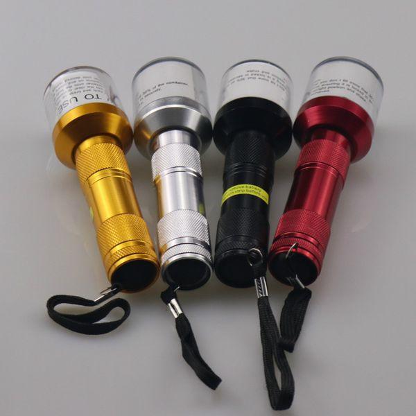 Elétrica Triturador Moedor De Torch Forma Erva Tabaco Spice Fumo fumar vaporizador de tubo de metal clique n vape Rapidamente Alumínio 14.5 cm moedor de ervas