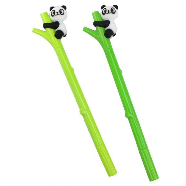 1pc Green bamboo panda gel pen writing pens kawaii stationery caneta material escolar office school supplies Color Randm