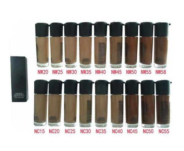 NOVA Qualidade de Maquiagem NC NW Cores MATCHMASTER Fundação Básica SPF 15 35 ML Rosto Maquiagem NC NW Cores Fundação Garrafa de Óculos