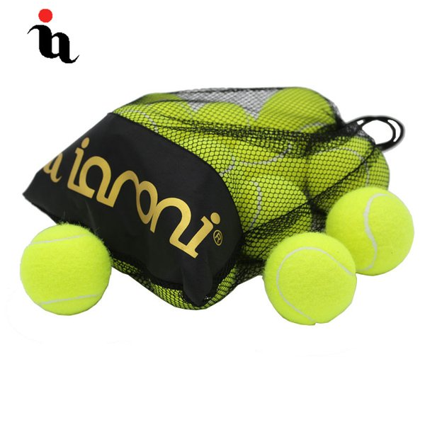 IANONI 12 Pack Tennis Balls Training Yellow Tennis Balls For Lessons Practice,Playing With Pets Accessories Carrying Bag