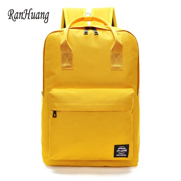2017 Preppy Style Women Casual Backpack High Quality Oxford Backpack Waterproof Laptop Women's Travel Bag Candy Color