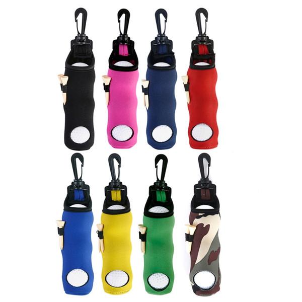 Neoprene Golf Ball Bag Holder Carrying Storage Swivel Belt Clip Waist Pouch Gift