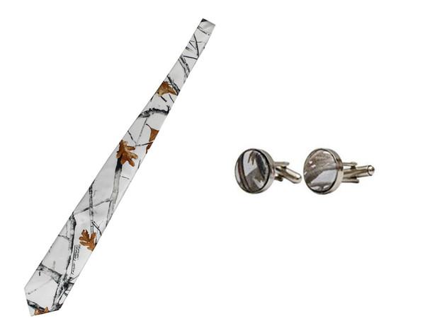 2018 immagine reale bianco Camo da uomo cravatta Groom cravatta da sposa camouflage Groom Wear accessori Una vera cravatta albero reale Lunghezza 140CM
