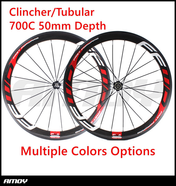 Free Shipping FFWD wheels 700C F5R 50mm bicycle wheelset NOvatec hubs full carbon road bike wheels