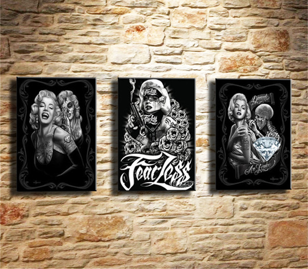 Marilyn Monroe -2,3 Pieces Canvas Prints Wall Art Oil Painting Home Decor (Unframed/Framed)