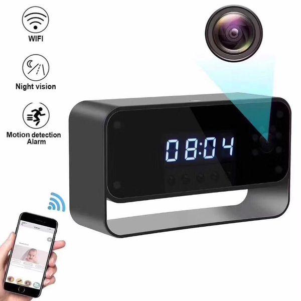Table Clock Mini Camera Night Vision alarm Clock Wireless WIFI IP Camera Baby Monitor 1080P Home security monitoring