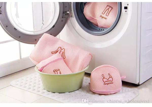 NEW Zippered Mesh Laundry Wash Bags set Foldable Delicates Lingerie Bra Socks Underwear Washing Machine Clothes Protection Net set ARI-236