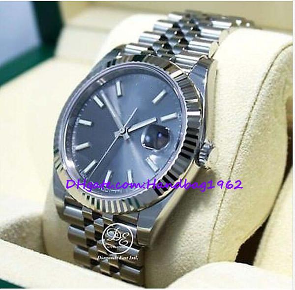 72.mens relojes 126334 41mm Dial 18K oro blanco bisel reloj NUEVO vestido estilos mecánico: automático