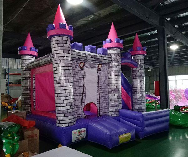 château gonflable princesse videur gonflable trampoline sautant maison avec toboggan pour enfants livraison gratuite