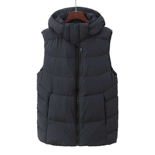Factory direct sales 90% white duck down Coat Men down Vest collar men's cultivate one's morality Down sleeveless jacket NFA8